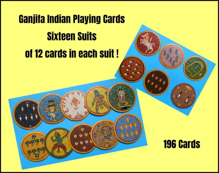 Indian Circular Playing Cards